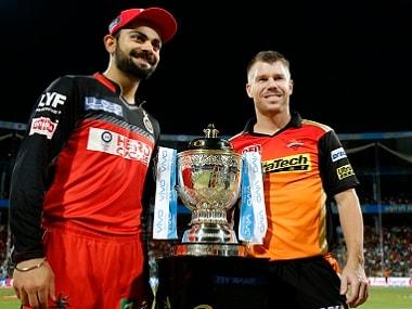 RCB captain Virat Kohli with his SRH counterpart David Warner. BCCI