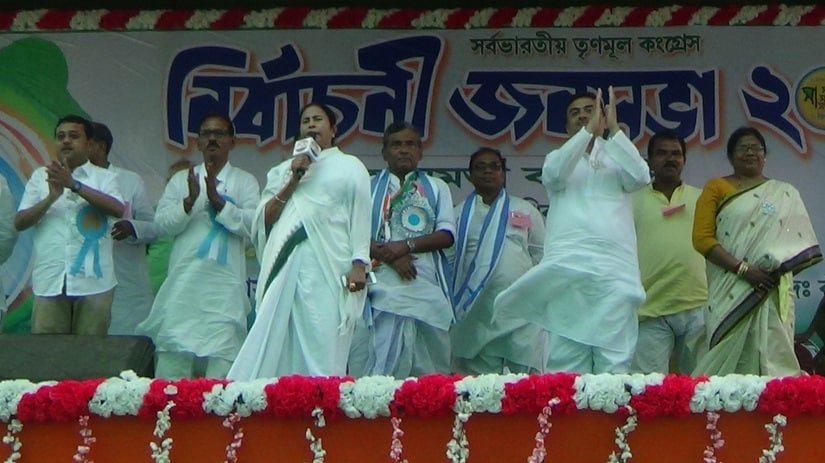 Mamata Banerjee campaigning in East Midnapore. Image credit: Saadia