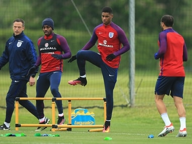 Marcus Rashford in England training. Getty