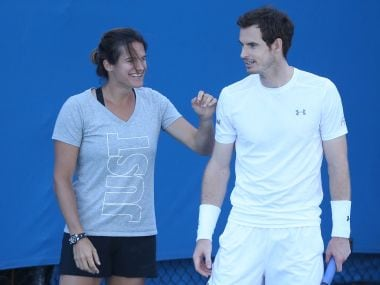 File photo of Andy Murray and Amelie Mauresmo. Getty