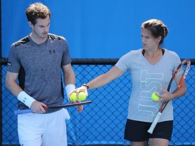 File photo of Andy Murray with Amelie Mauresmo. Getty