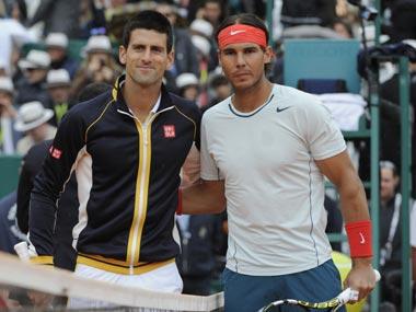 File photo of Novak Djokovic and Rafael Nadal. Reuters