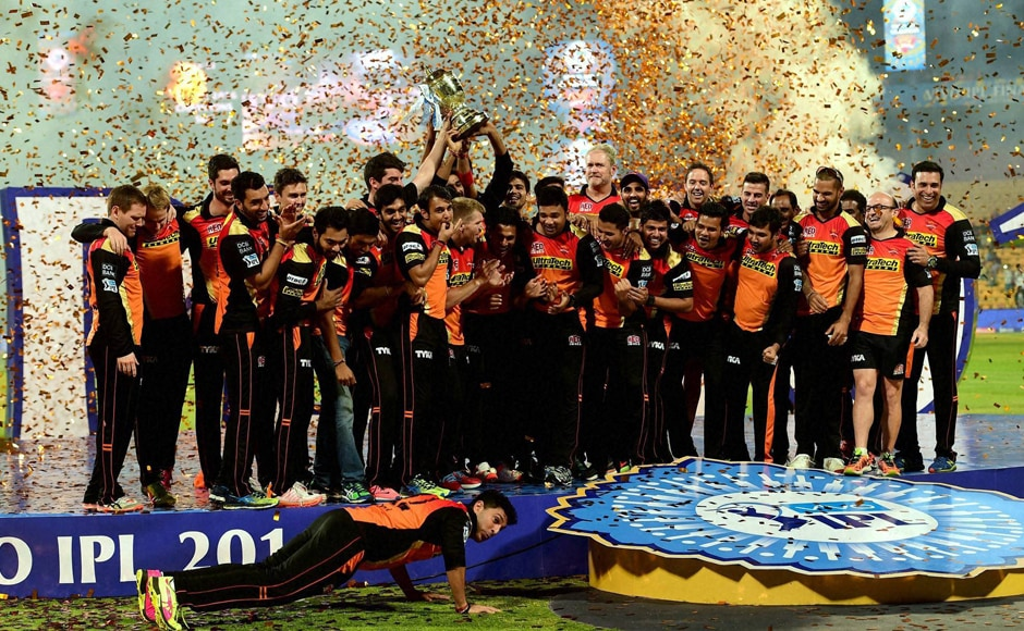 Sunrisers Hyderabad have become the sixth team to win the IPL trophy, following Rajasthan Royals, Deccan Chargers, Chennai Super Kings, Kolkata Knight Riders and Mumbai Indians. PTI