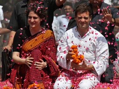 A file photo of Priyanka Gandhi and Rahul Gandhi. Reuters