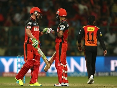 AB de Villiers and Virat Kohli of Royal Challengers Bangalore starred in their team's win over Sunrisers Hyderabad. BCCI