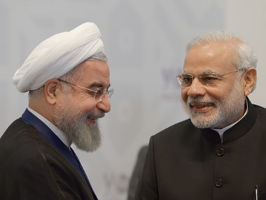 Prime Minister Narendra Modi and Iran President Hassan Rouhani. AFP