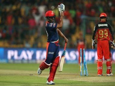 Karun Nair against Royal Challengers Bangalore. Sportzpics
