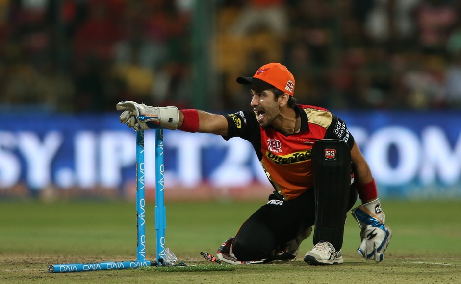 Sunrisers' wicket-keeper Naman Ojha had two run-outs against his name, the key wickets of Chris Jordan and Stuart Binny in the final couple of overs. BCCI