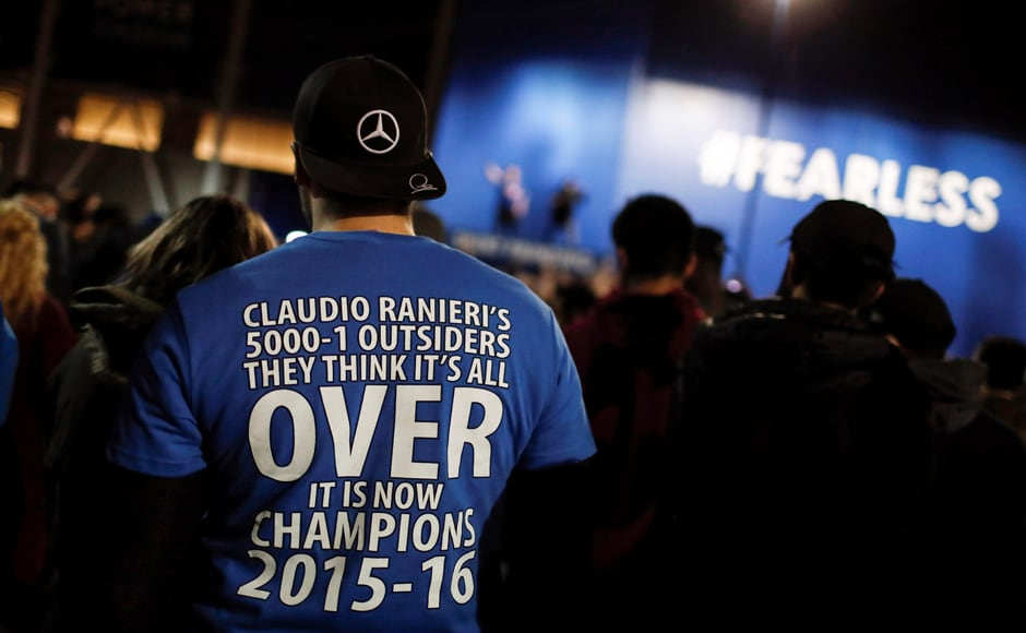 Beating odds of 5000-1, Leicester City became first-time Premier League Champions prompting fans to take to the streets in celebration. Reuters