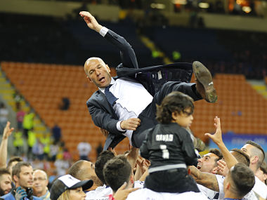 Zidane becomes the 7th player to win the UCL as manager. Reuters