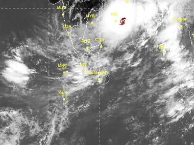 Cyclonic storm Roanu. Image courtesy IMD