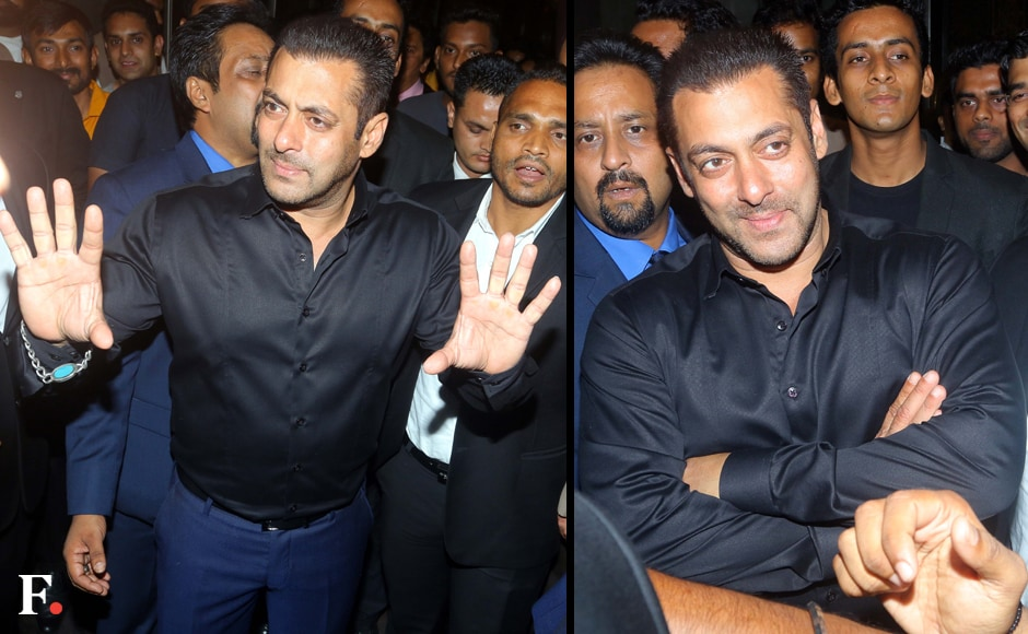 Salman Khan at the Zinta-Goodenough reception. Firstpost/Sachin Gokhale