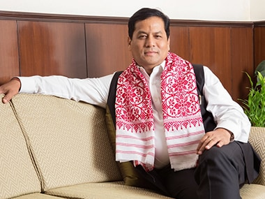 A file photo of Sarbananda Sonowal. Photo credit: Twitter, @sarbanandsonwal