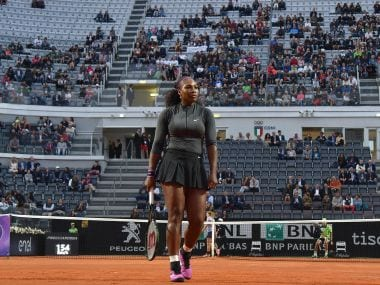 Serena Williams played her first match since late March in Miami. AP