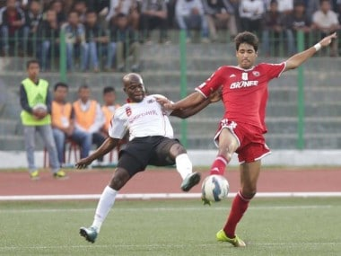 An extra time winner from Uilliams sends Shillong Lajong to the semi-finals of the Federation Cup. Image courtesy: Twitter