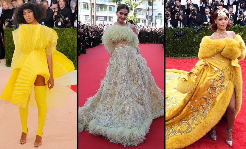 Solange Knowles, Sonam Kapoor's infamous 'Big Bird' dress, Rihanna channels her inner egg yolk at the 2015 Met Gala