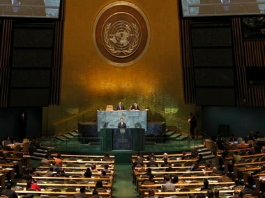 A file photo of the United Nations General Assembly. Reuters
