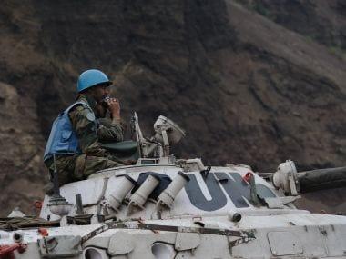 Indian peacekeepers. AFP
