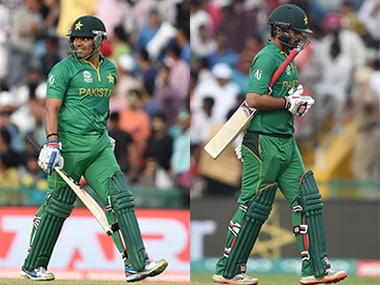 Umar Akmal (left) and Ahmed Shehzad have been booted out of the Pakistan side by the selection panel due to disciplinary issues as well as lack of form. AFP