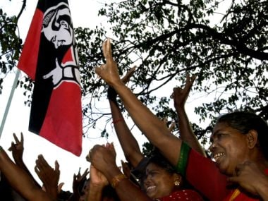 A file image of AIADMK supporters in Tamil Nadu. AFP