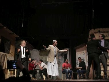 Palestinian actors perform a Gaza version of Shakespeare's 'Romeo and Juliet.' AP