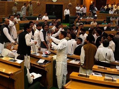 GST. Representational image of Jammu and Kashmir Assembly. Getty Images