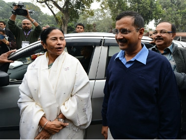 """Congratulations Didi for stupendous victory..."" Kejriwal tweeted. Getty images"