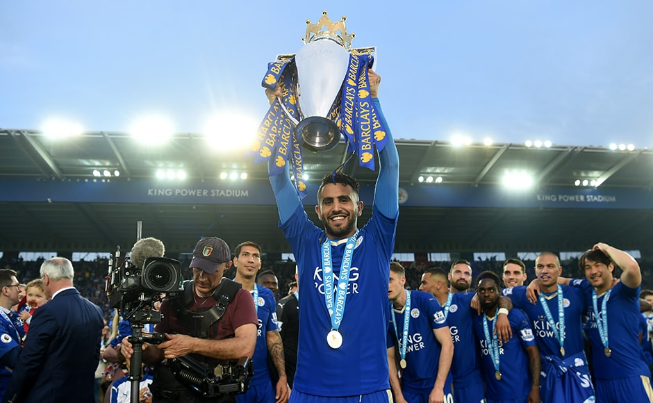 Riyad Mahrez, one of the stars of the Leicester team, finally gets a chance to lift the silverware. Getty