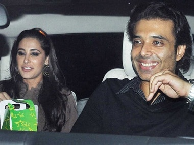 Nargis Fakhri with Uday Chopra. Image from IBNlive