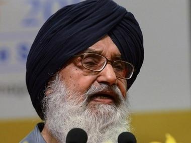 Prakash Singh Badal. File photo. AFP