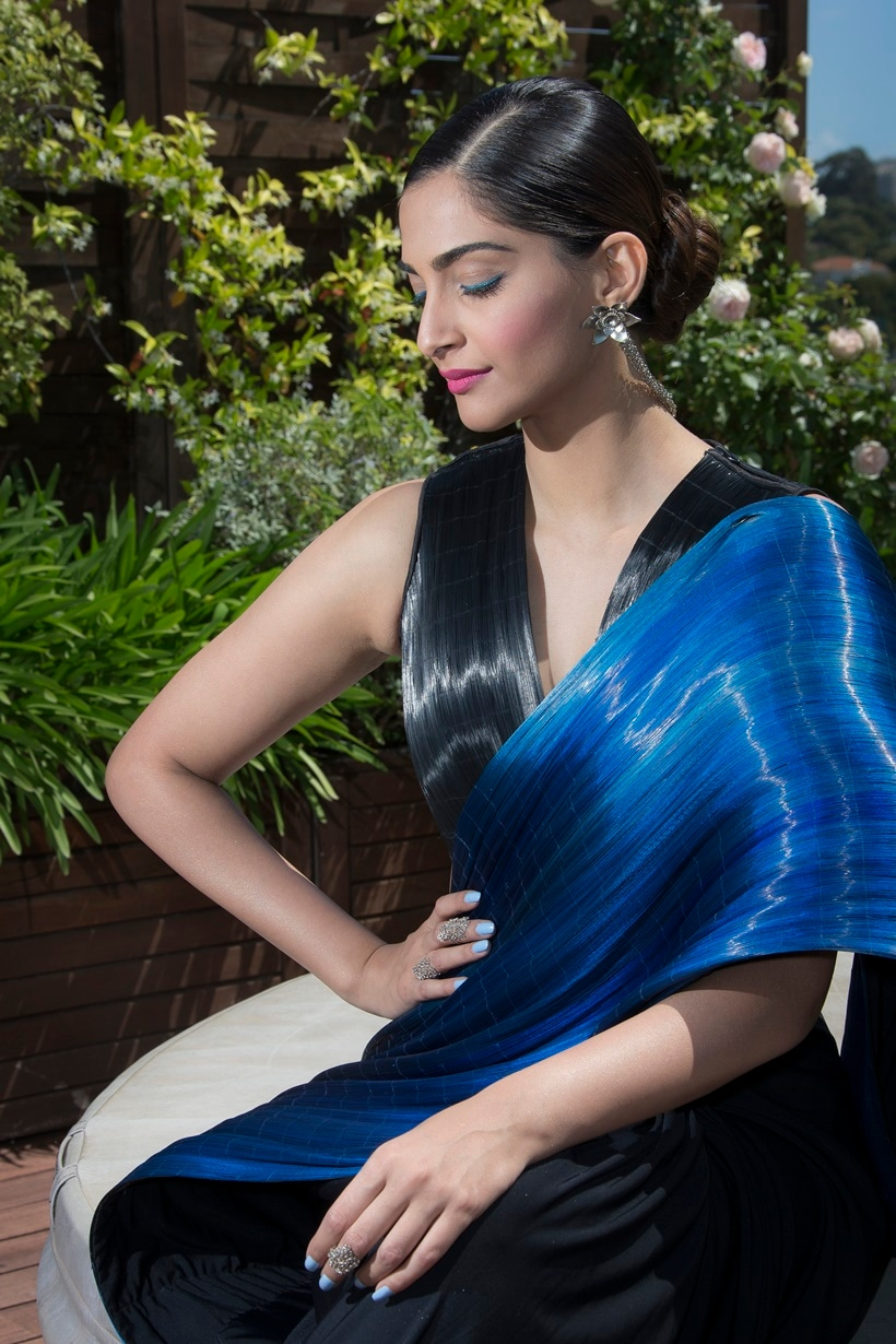 Actress Sonam Kapoor poses for a portrait photograph at the 69th international film festival, Cannes, southern France, Sunday, May 15, 2016. (AP Photo/Joel Ryan)