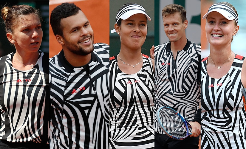 """Top-ranked players from Simona Halep to Tomas Berdych flaunted the """"zebra"""" outfits at the French Open. AFP"""
