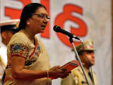 File photo of Anandiben Patel. Reuters