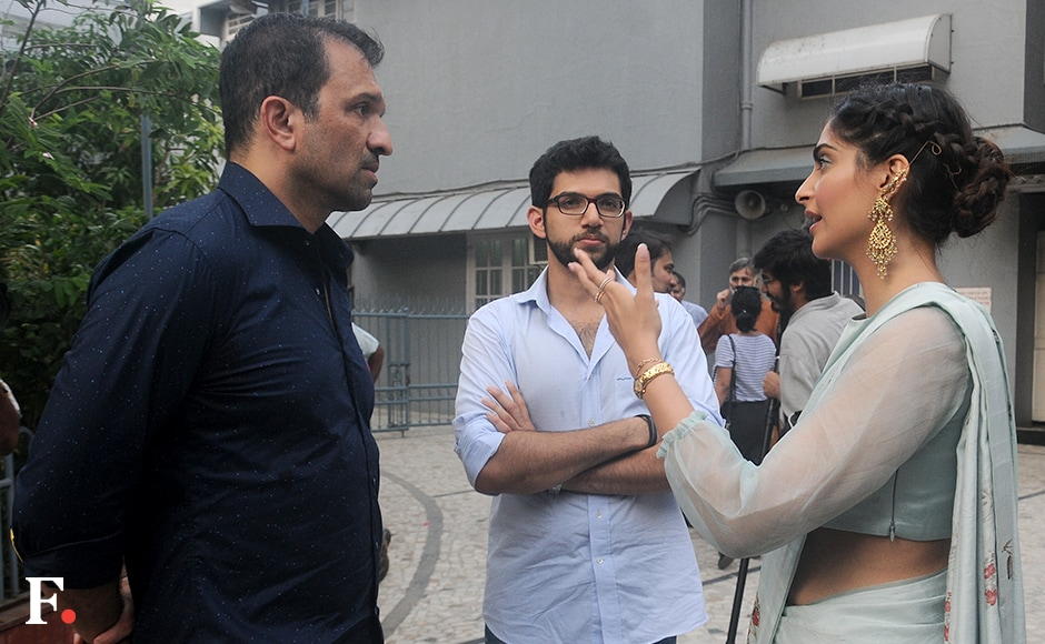 Atul Kasbekar, Sonam Kapoor & Aditya Thackeray.Sachin Gokhale/Firstpost