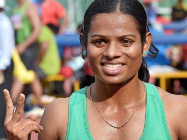 File photo of Dutee Chand. AFP
