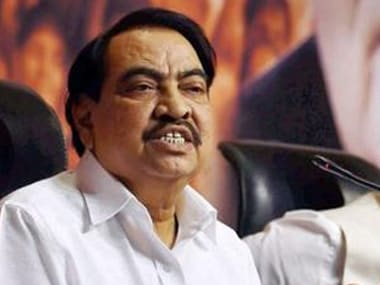 A file photo of Khadse. PTI