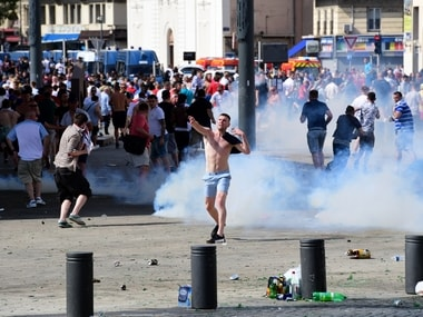 File photo of the hooliganism. AFP