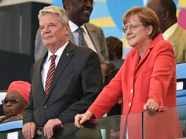 File photo of German President Joachim Gauck and Chancellor Angela Merkel. AP.