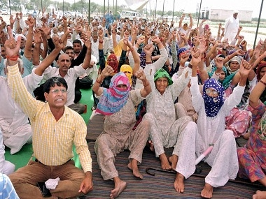 File image of Jat agitation. AP