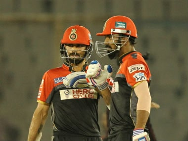 KL Rahul credited RCB skipper Virat Kohli (left) as well as AB de Villiers for helping him improve his batting skills. Sportzpics/IPL
