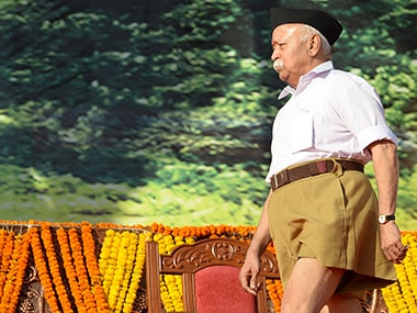 A file photo of Mohan Bhagwat. AFP