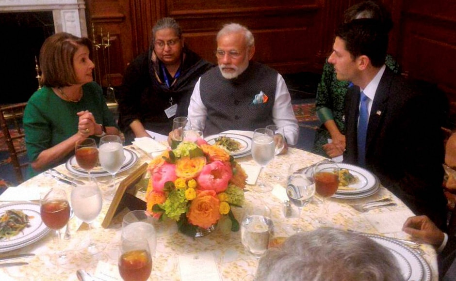 PM Narendra Modi during the banquet lunch host by House Speaker Paul Ryan at Capitol Hill in Washington. PTI