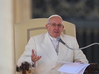 File image of Pope Francis. AFP