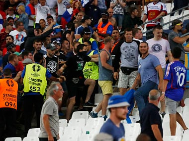Russia and English fans clashed in Stade Velodrome. Reuters