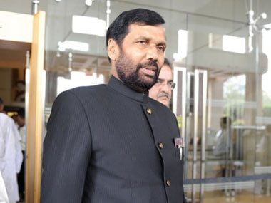 File image of Ram Vilas Paswan. PTI