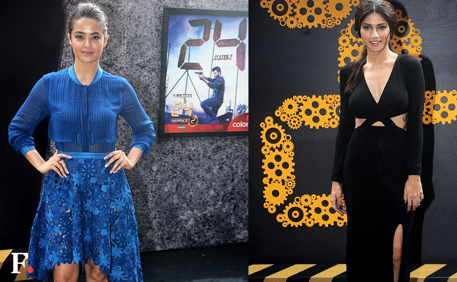 Surveen Chawla and Sapna Pabbibrought up the glam brigade at the trailer launch for season two of Anil Kapoor's thriller TV show, 24.<br />Image by Sachin Gokhale/Firstpost