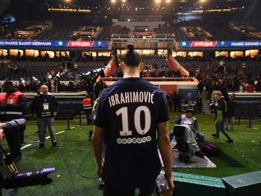 Zlatan Ibrahimovic made his thoughts on Francois Hollande clear. AFP