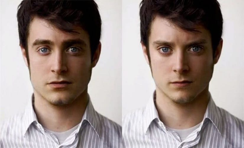 One of these people is Daniel Radcliffe, while the other is Elijah Wood. Or are they both the exact same person?