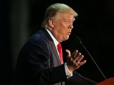 Donald Trump called a journalist a 'sleaze'. File photo. Getty images