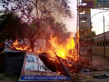 Aftermath of the Mathura carnage. Twitter @CNNNews18